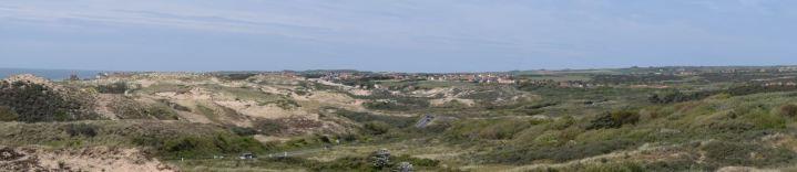 panorama vers le village et le fort d'ambleteuse