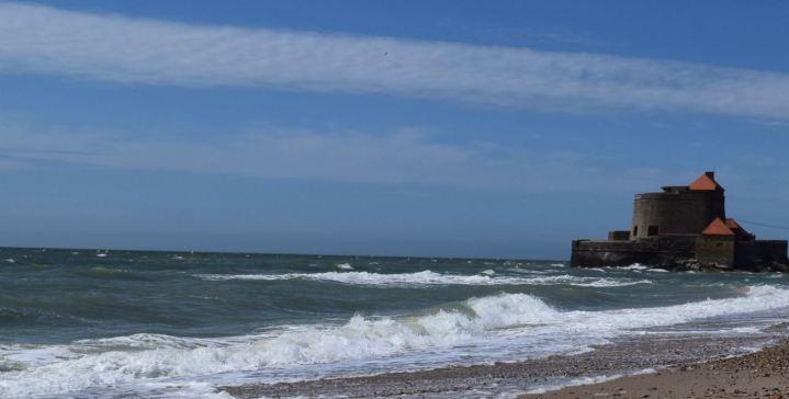 vue du fort d'ambleteuse côté baie de slack juillet 2015