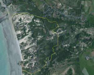 vue satellite du chemin des dunes de slack