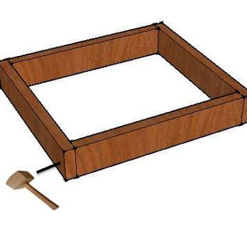 Fixez les bastaings de façon à faire un cadre.